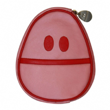 Weebl Pink Leather Wallet & Dust Case